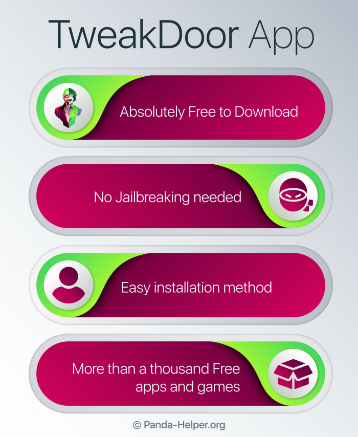 tweakdoor app infographic