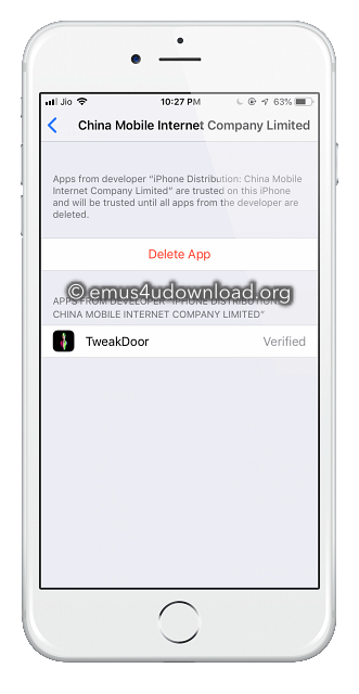 delete tweakdoor app